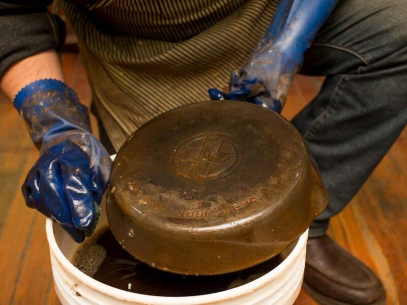 Repairing a pan is a step-by-step process
